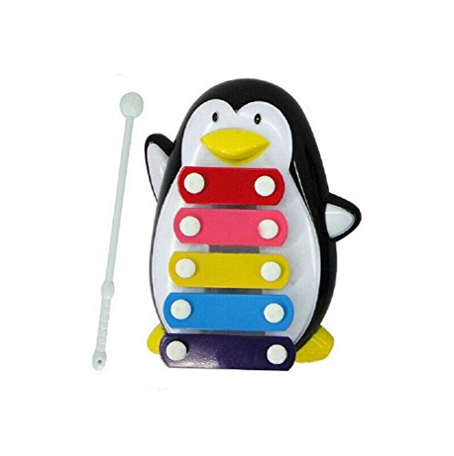 Generic Baby-Kind 5-Note Xylophone Musikspielzeuge Weisheit Entwicklung Pinguin (Schwarz )