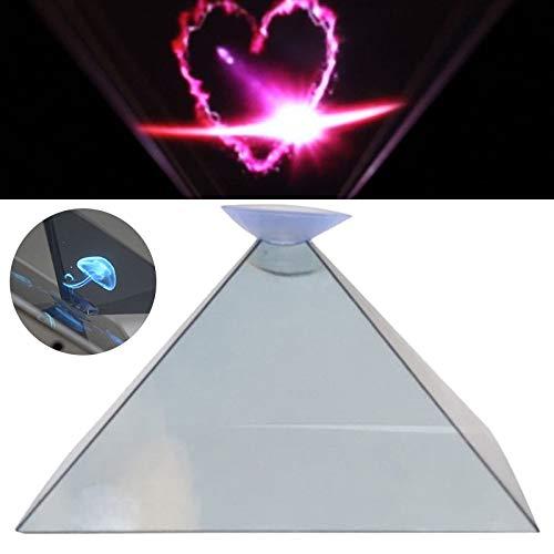 Daxerg Proyector de Pantalla de Pirámide de Holograma Universal 3D ...