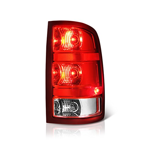 VIPMOTOZ Red Lens OE-Style Tail Light Lamp Assembly For 2007-2013 GMC Sierra 1500 2500HD 3500HD Pickup Truck, Passenger Side (Pickup Tail Truck Side Style)