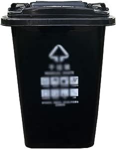 C-J-Xin Parque Cubo de Basura, Escuela de la Calle Jardín Cubo de Basura Clasificación Bote de Basura de Gran Capacidad de contenedores de Basura de plástico Alta Capacidad: Amazon.es: Hogar