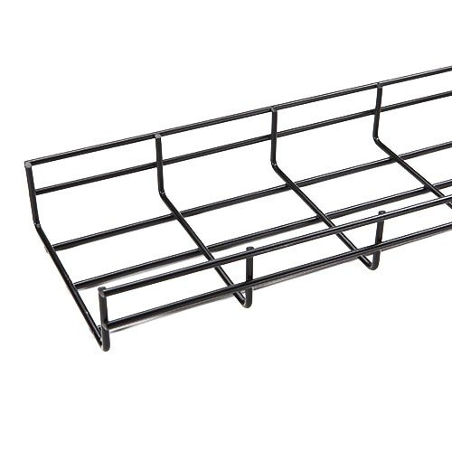 2 Cable Management Trays - WireRun Cable Tray, 2in H x 6in W x 6.56ft L, Powder Coated