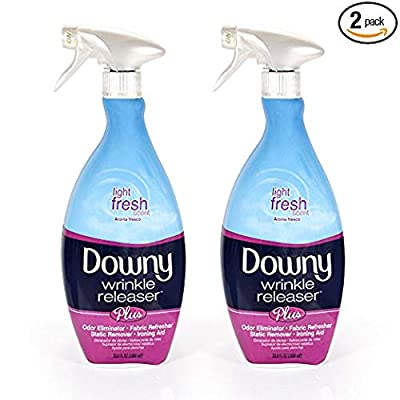 Downy Wrinkle Release Spray Plus, Static Remover, Odor Eliminator, Fabric Refresher and Ironing Aid, Light Fresh Scent