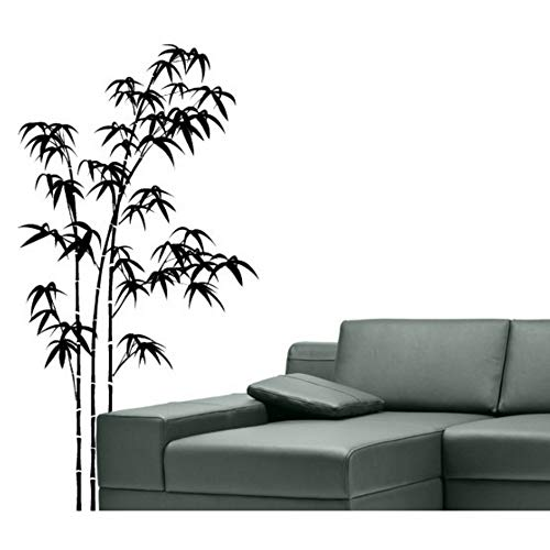 (RTFC 28X54Cm Bamboo Art Designed Pattern Wall Murals Home Natural Plant Decor Vinyl Wall Stickers Mural Asia Style Wall)