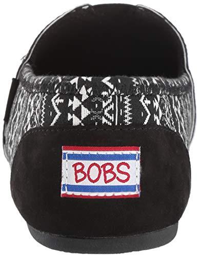Para Espuma Invierno Cordones Bobs Con Skechers32654 Diseño Sin Mujer Elásticas De Azteca Zapatillas Memoria Tejido Felpa Bkw XSxqIg