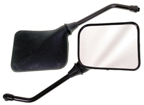 Emgo 20-46210 Matte Black Finish 10mm Universal Replacement Mirror for GP Sport - Pair ()