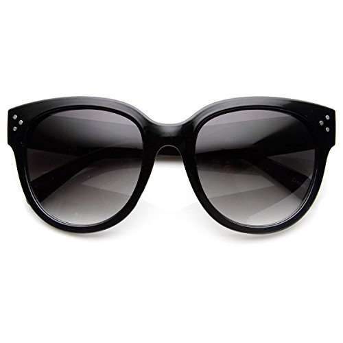 Womens Large Oversized Fashion Horn Rimmed Audrey Sunglasses - Audrey Sunglasses Hepburn