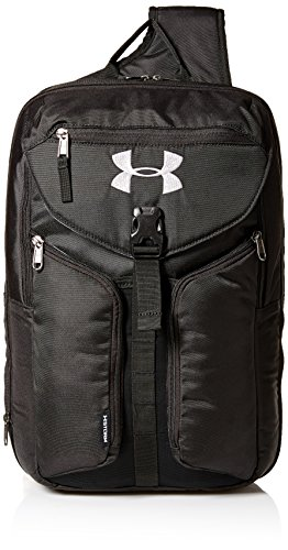 Under Armour Unisex Compel Sling 2.0, Black (001)/Silver, One Size Fits All
