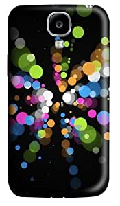 Color Dots PC Case Cover for Samsung Galaxy S4 and Samsung Galaxy I9500 3D
