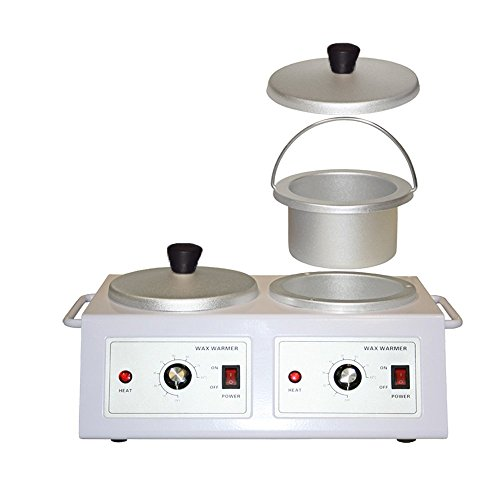 LCL Beauty Double-Pot Depilatory Wax Heater Salon Spa Equipment (Best Double Wax Warmer)