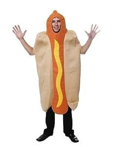 ADULT HOTDOG HOT DOG CHILLI SAUSAGE SANDWICH FANCYDRESS COSTUME OUTFIT (disfraz)