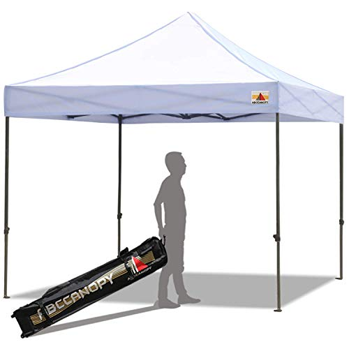 ABCCANOPY 10 x 10 Pop up Canopy Tent Commercial Instant Shelter with Wheeled Carry Bag, White