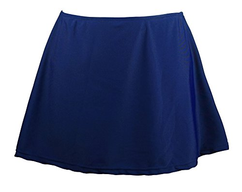 Cocoship Navy Blue Women's Solid Elegant A-line Skirted Bikini Bottom Skirt Swimwear 10(FBA)