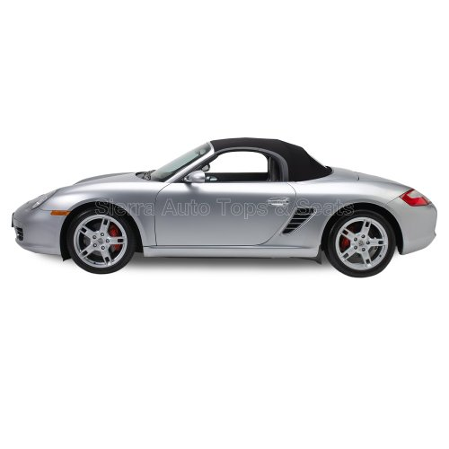 Porsche Top - Sierra Auto Tops Convertible Soft Top Replacement, compatible with Porsche Boxster 1997-2002, w/Heated Glass Window, TwillFast RPC Canvas, Black