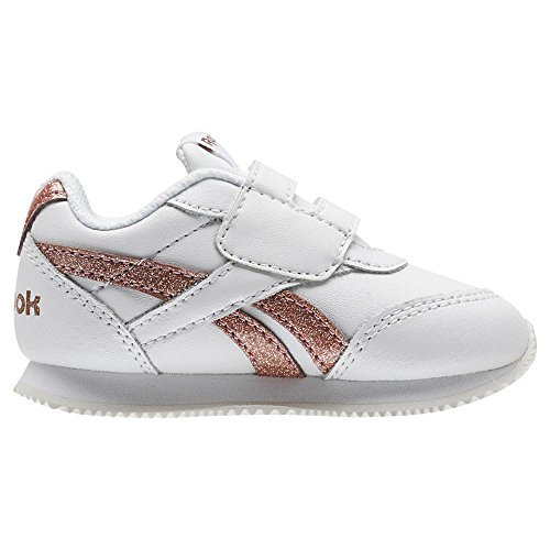 Reebok Royal Cljog 2, Zapatillas de Trail Running para Mujer, Blanco (White/Rose Gold Sparkle 000), 37 EU