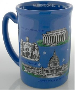Washington D.C. Mug - Large 3-D Landmarks, Washington DC Mugs, Washington DC Souvenirs
