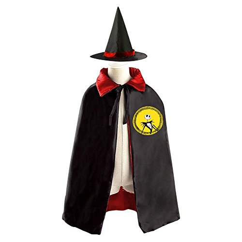 Oogie Boogie Mr Costume (Children The Nightmare Before Christmas Jack Halloween Christmas Cloak With Hat Witch Costume)