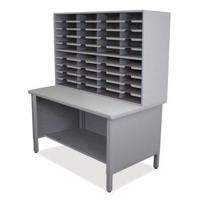 Mailroom 40 Slot Organizer Finish: Slate Gray