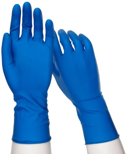 West Chester 2550 PosiShield Examination Grade Disposable Latex Gloves, Powder Free: Dark Blue, 14 mil, Medium, Box of 50 by West Chester