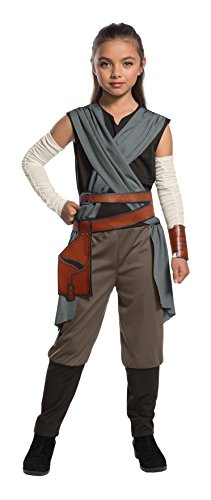 Jedi Costume Girl - Rubie's Star Wars Episode VIII: The Last Jedi, Child's Rey Costume, Large
