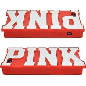 HC- Novela Patrón Funda de silicona suave de la caja para el iPhone 4/4S (colores surtidos) , Rosa