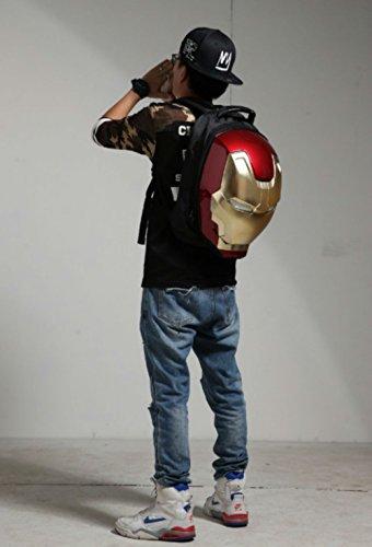 Marvel 3D Hardshell Backpack (Iron Man (LED Light)) by Mtime (Image #9)