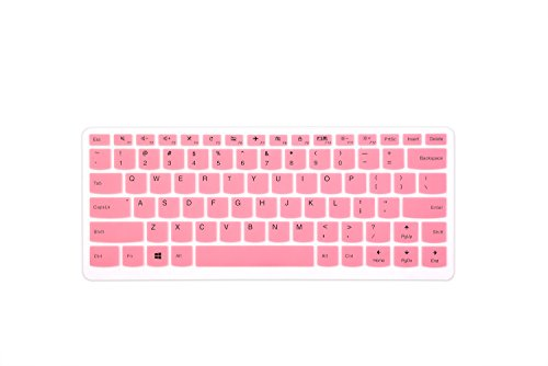 Leze - Ultra Thin Silicone Keyboard Cover Skin Protector for Lenovo ideapad 110 14,510s 14,Flex 4 14,Yoga 710 14 & 15,Yoga 910 14 Laptop - Pink