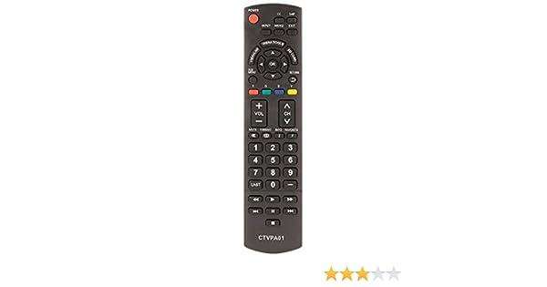 Common TV CTVPA01 - Mando a Distancia Universal (Compatible con Televisores Panasonic) Color Negro: Amazon.es: Electrónica