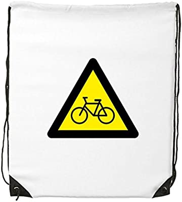 Advertencia símbolo amarillo negro bicicleta triángulo Mark Logo ...