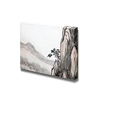 Traditional Chinese Painting of High Mountain Landscape with Cloud and Mist - Canvas Art Wall Art - 24