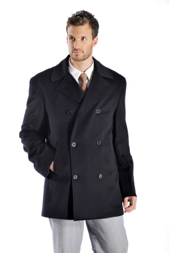 Men's Cashmere Pea Coat at Amazon Men's Clothing store: Wool ...