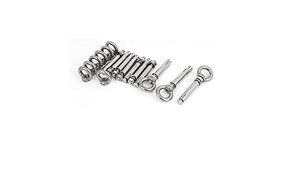 Details about  /M8x80mm Stainless Steel Expansion Bolt Loop And Hook Fixing Bolts 5 FREE SHIP