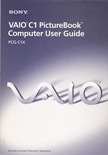 Vaio C1 PictureBook Notebook User Guide PCG-C1X (c) 1999
