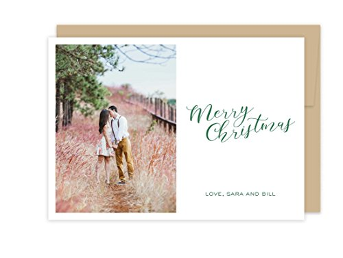 Photo Letterpress Christmas Cards - Merry Christmas Polka Dot by Tea and Becky