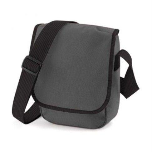 BagBase Mini Reporter, blanco y negro (multicolor) - PC2014-BG18-White Black-ONE Graphite Black