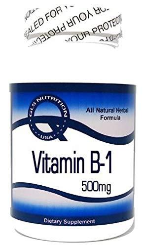 Vitamin B-1 (Thiamine Hydrochloride) 500mg 200 Capsules ^GLS by GLS
