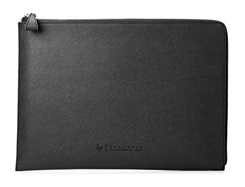 HP Spectre 13-inch Laptop Leather Sleeve (Dark Ash Silver with Copper-Finished Hardware) (Spectre Split Hp)