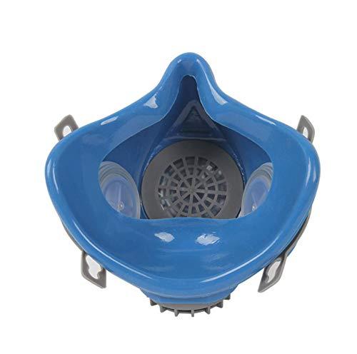 Induschoice Half Facepiece Reusable Respirator Spray Paint Pesticide Respirator Respiratory Protection Dual Cartridges Gas Mask,Medium(Mask+1 Pair Cartridges) by Induschoice (Image #3)