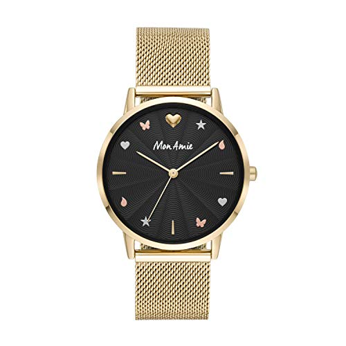 Mon Amie Women s Supports Health Quartz Stainless-Steel Strap, Gold, 18 Casual Watch Model CBMA2507