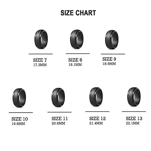 Size 7 8 9 10 11 12 13 ATORX Silicone Wedding Bands for Men 7 Comfortable Fit Silicone Ring Skin Safe Gurantee Mens Rubber Wedding Rings Perfect for Crossfit Workout