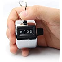 HORSKY Tally Counter Handheld, Digit Number Lap Counter Manual Mechanical Clicker with Finger Ring Sliver