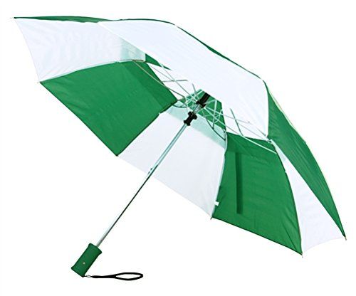 Economy Umbrella - Customizable Economy Beach Umbrella in a carrying bag Pack of 50 - Forest/White