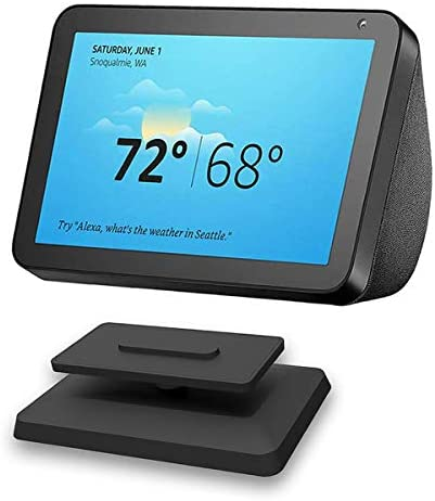 Stand for Echo Show 8, AutoSonic Adjustable Stand Mount Accessories for Amazon Alexa Smart Home Speaker, Magnetic Attachment, 360 Degree Swivel, Tilt Function, Anti-Slip Base, 2020 Release, Black