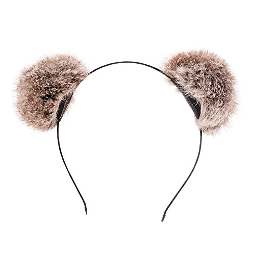 XY Fancy Cute Ears of Cats and Pandas Head Band Costume Accessories Light Brown -