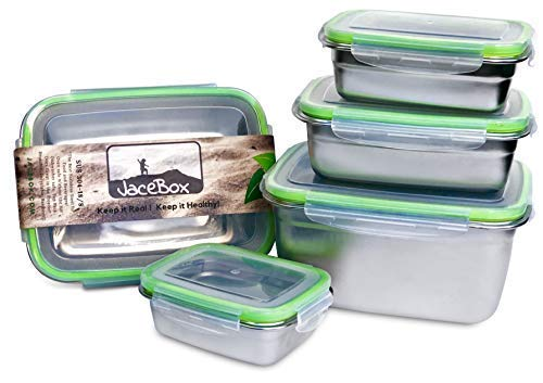 JaceBox Food Storage Containers - Stainless Steel 304 BPA FR