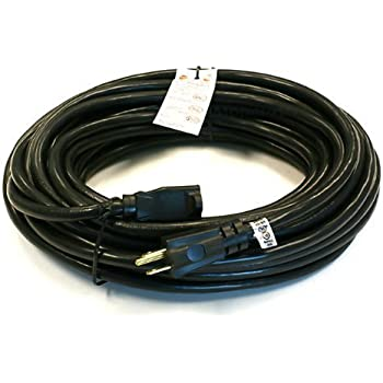 2 Pack 50 Ft 14 Gauge Heavy Duty Black Extension Cords