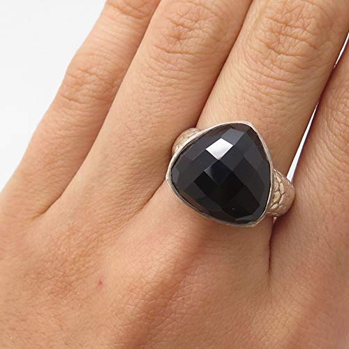 925 Sterling Silver Real Smoky Topaz Gemstone Ring Size 8 Jewelry by Wholesale Charms