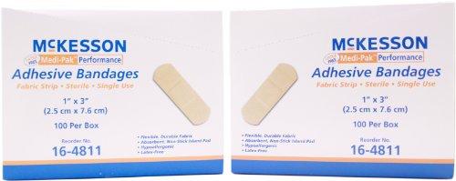 mckesson-medi-pak-performance-adhesive-bandages-1-x-3-100-bx-pack-of-2-boxes