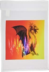 3dRose fl_12603_1 Dragon L Garden Flag, 12 by 18-Inch