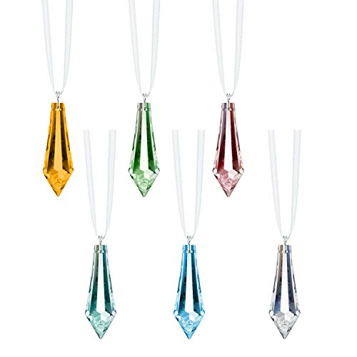(Swarovski Strass Crystal Drop Prisms 6 Pcs Colorful Crystal SunCatcher Ornaments Package Deal)