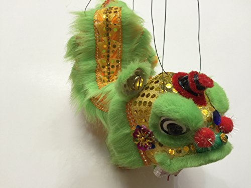 Chinese New Year Green Lion Dragon Puppet Dance